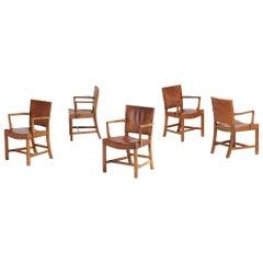 Set of Five Kaare Klint Barcelona Armchairs