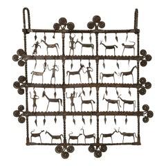 Atelier de Marolles Wrought Iron Wall Hanging, Jean Marie Touret