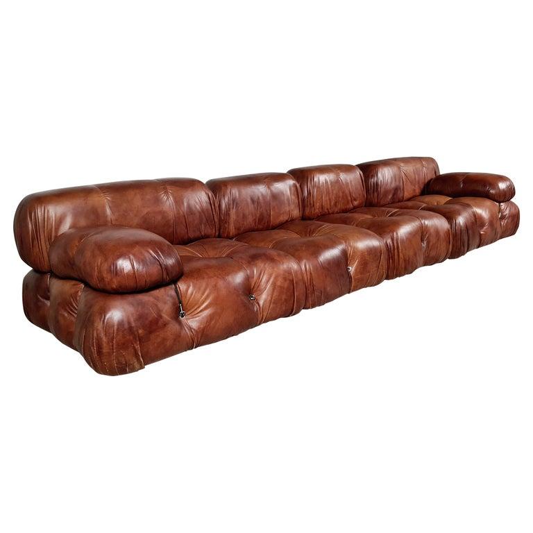 Camaleonda Sofa in Original Leather by Mario Bellini for B&B Italia, 1973 For Sale