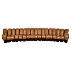De Sede DS-600 Sofa in Cognac-Brown Leather