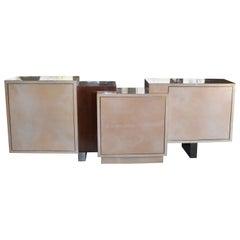 Modern Parchment & Copper Credenza