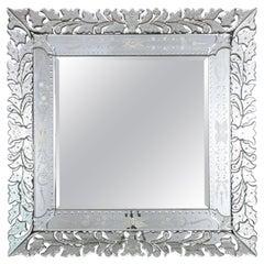 1980s Venetian Etched Mirror