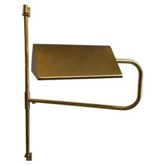 Brass Swing Arm Adjustable Wall Sconce Lamp in the Manner of Florian Schulz