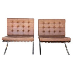 Pair of Mid-Century Barcelona Lounge Chairs by Mies van der Rohe