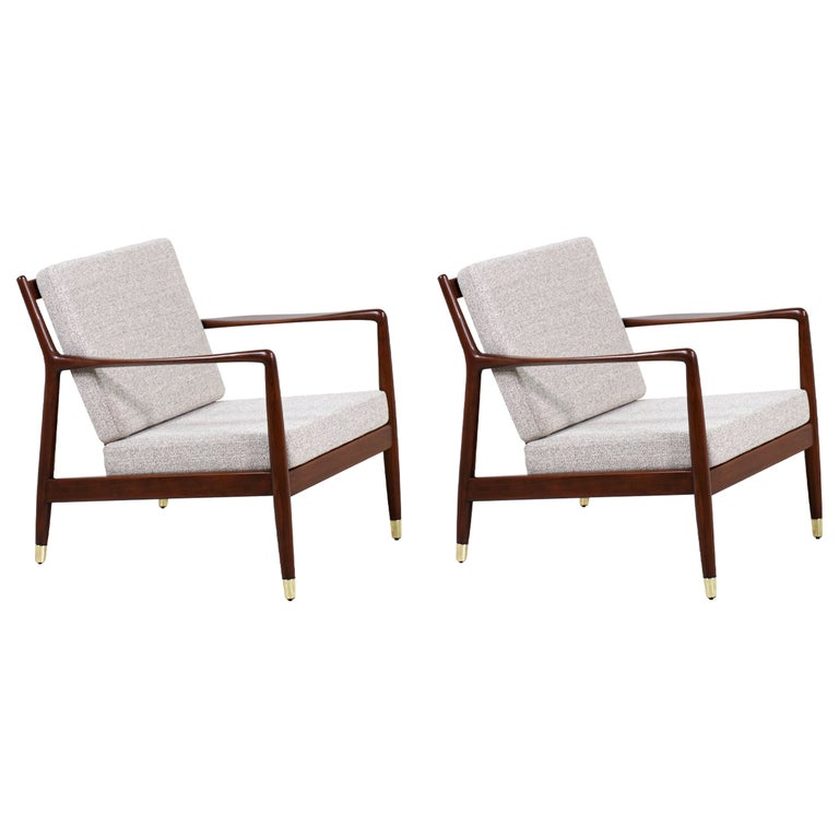 Folke Ohlsson Model USA-143 Lounge Chairs for DUX For Sale
