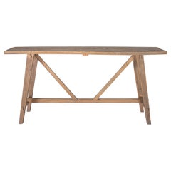Cross Stretcher Design Console Table Reclaimed Elm