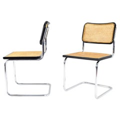 Set of Two Mid-Century Modern Marcel Breuer B32 Cesca Chairs, Italy 1970s