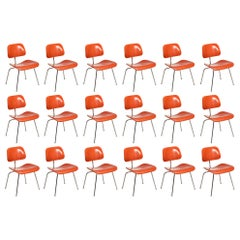 16 DCM Chairs by Charles and Ray Eames for Herman Miller