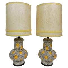 Pair of Monumental Size Mid-Century Modern Pieri Tullio Table Lamps