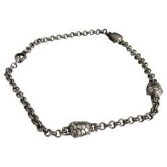 Kieselstein Cord Sterling Silver Turtle Necklace