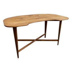 Mid-Century Modern Rounded Wood Desk
