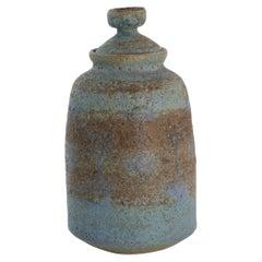Rose Cabat Rare Large Scale Lidded Ceramic Vase