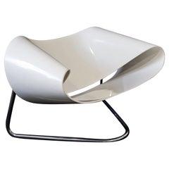 Mid-Century Modern CL9 Fiberglass Ribbon Chair by Franca Stagi Bernini Italy 60s