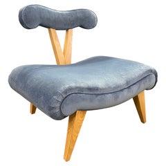 "Grosfeld House Slipper Chair ""Perwinkle Blue"""