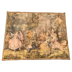 Vintage French Jaquar Tapestry Aubusson Style