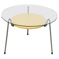 """Wim Rietveld 535 """"Mosquito"""" Side Table with Yellow Tray"""