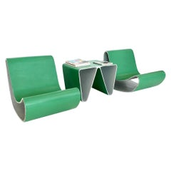 Prototype Willy Guhl Loop Chairs and Table