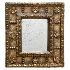 Spanish Colonial Style Gilt Wood Wall Mirror
