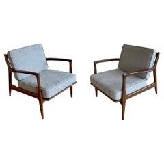 Pair of Danish Modern Lounge Chairs by Ib Kofod-Larsen for Selig