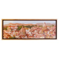Oil on Canvas Cityscape Painting of Rome, Italy by Listed Artist Douglas Atwill