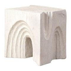 Kelly Wearstler Carved Wood Echo Stool