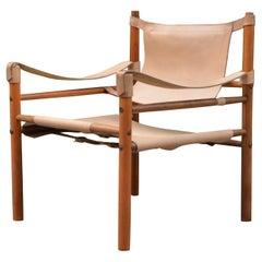 Abel Gonzalez Saddle Leather Argentina Safari Lounge Chair