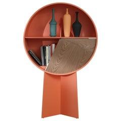 Orange Luna Storage Cabinet by Patricia Urquiola