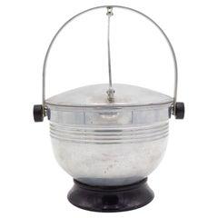 Art Moderne Aluminum Ice Bucket