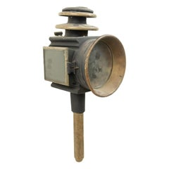 American Victorian Brass Coach Lamp