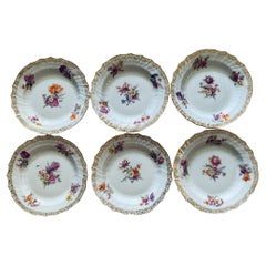 Set of Six KPM Bread and Butter Plates
