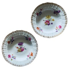 KPM Porcelain Set Of Two Large Bowl Plates