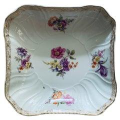 KPM Porcelain Large Octagonal Bowl