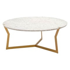 Round Carrara Star Coffee Table by Olivier Gagnère