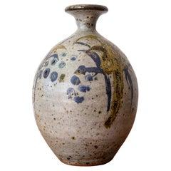 Peter Voulkos Stoneware Pottery Vase, 1950s