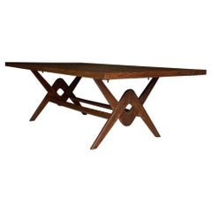 Pierre Jeanneret Committee Table in Teak Chandigarh India Circa 1963-64