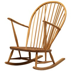 Lucian Ercolani for Ercol Rocking Chair in Beech and Oak