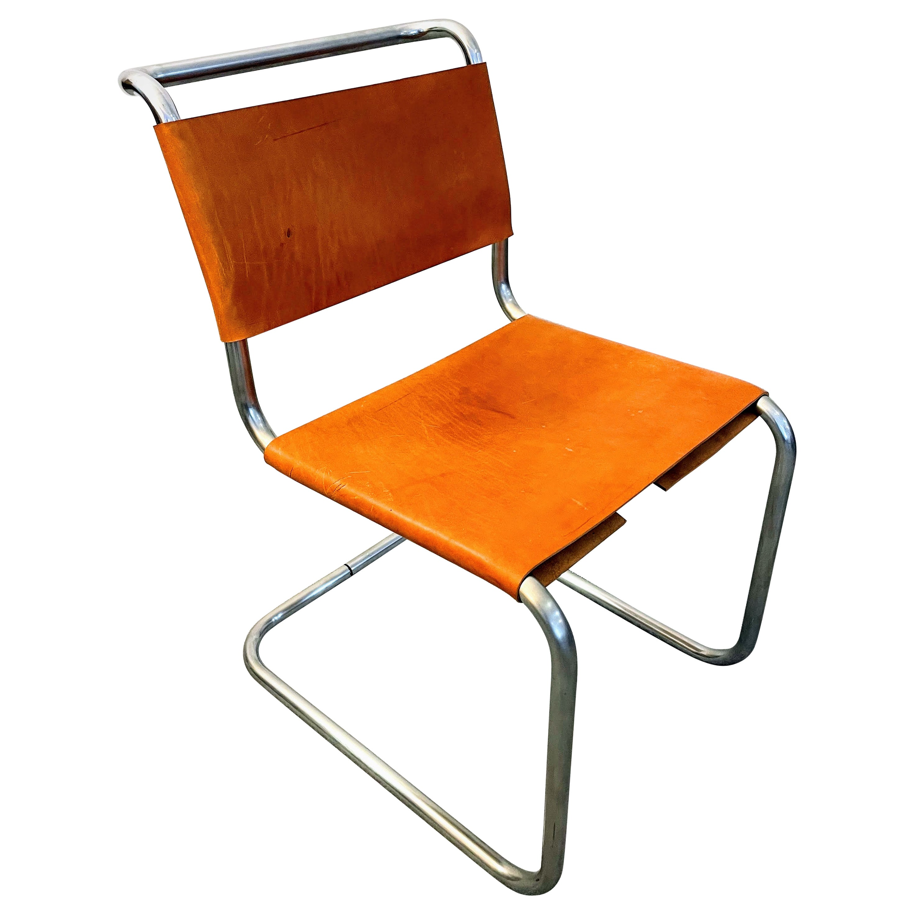 B33 Cantilevered Chair by Marcel Breuer