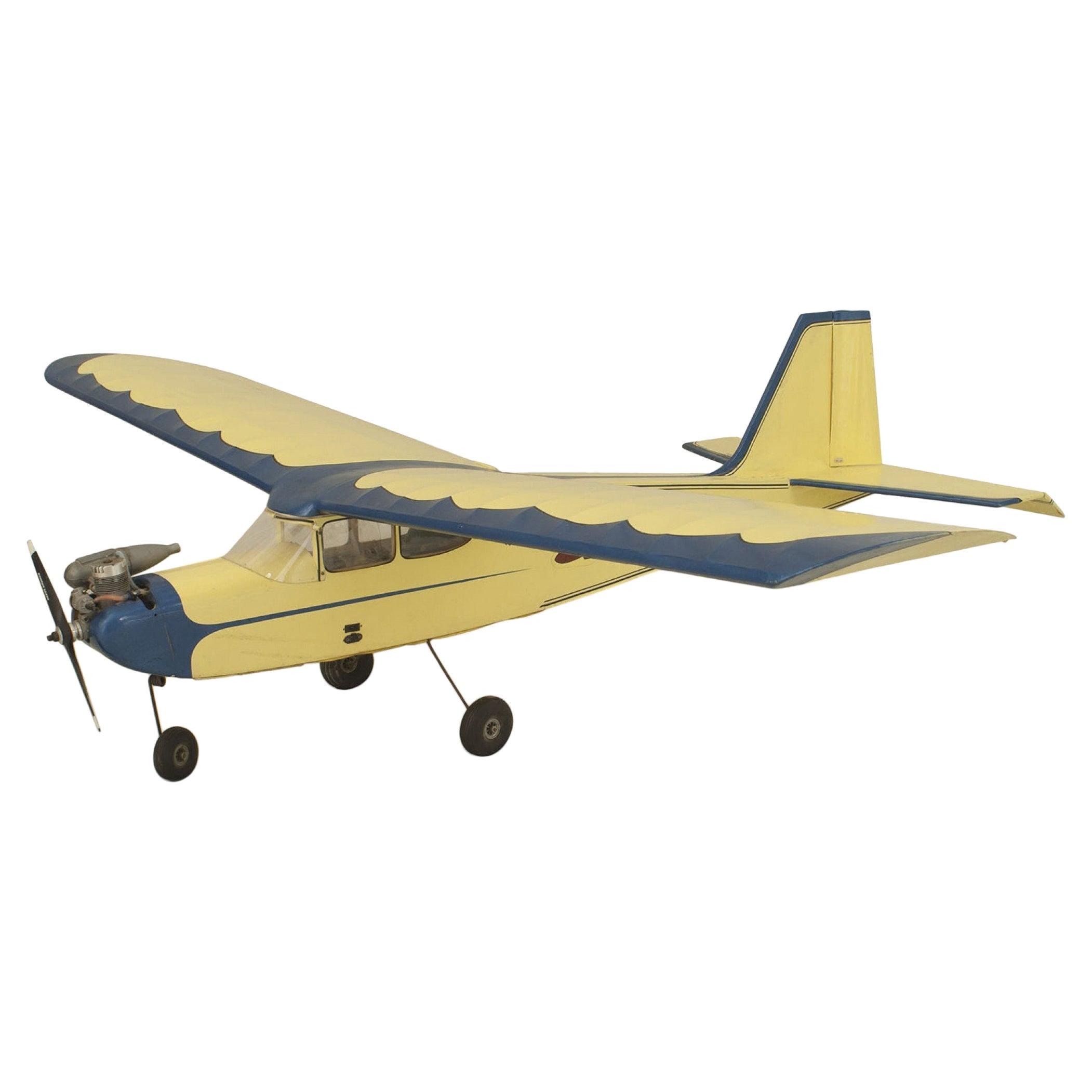Mid-Century Remote Control Model Airplane