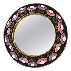 Ceramic Mirror by Mithé Espelt, France, 1970s