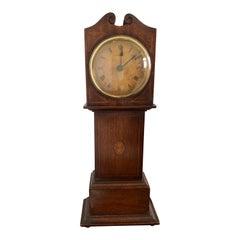 Antique Inlaid Mahogany Apprentice Miniature Longcase Clock