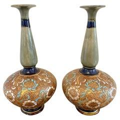 Pair of Antique Royal Doulton Vases