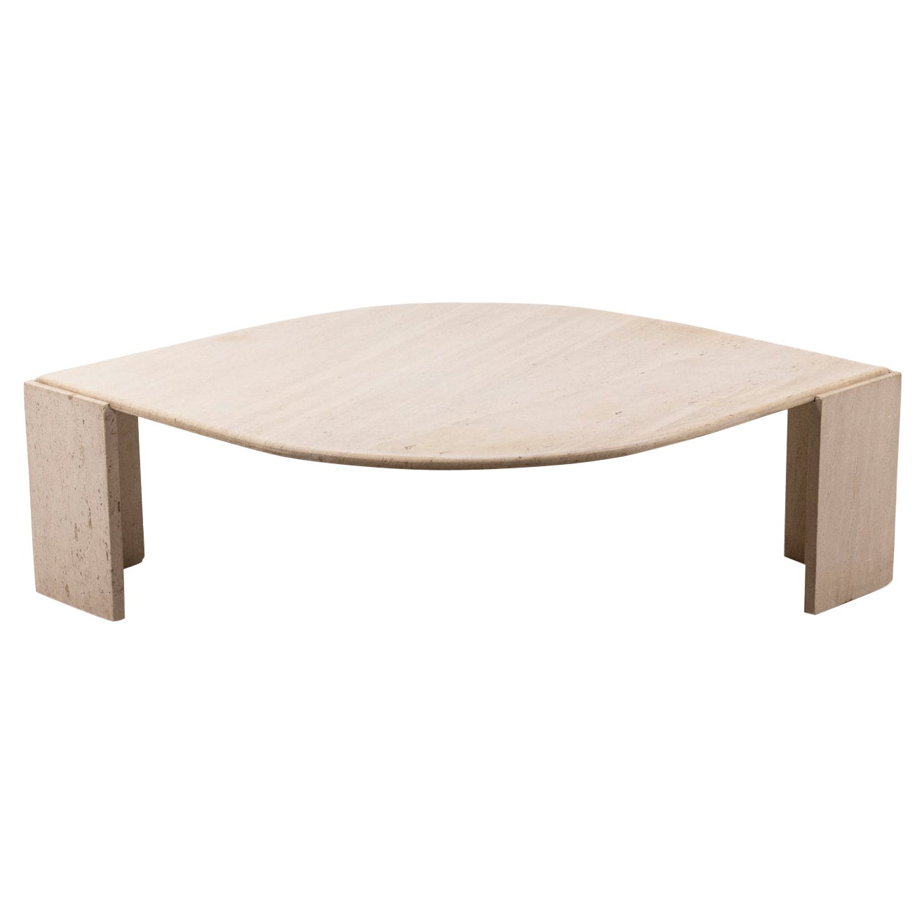 Coffee Table in Travertine, 1970s