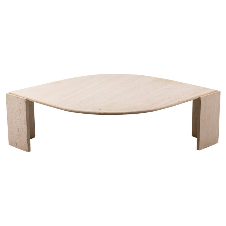 Coffee Table in Travertine, 1970s For Sale