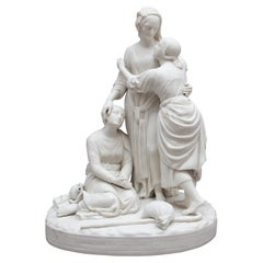 19th Century Parian Figure Group of Naomi and Her Daughters in Law