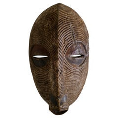 Tribal Art African Hand Carved Wooden Mask Kenya, 1900s