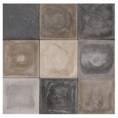 Cement Shades of Grey Reclaimed Floor or Wall Tiles
