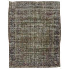 Distressed Antique Persian Kerman Rug