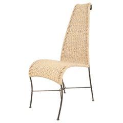American Post-War Rattan Side Chair