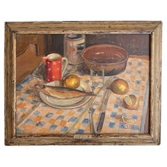 Early 20th Century German Still Life Painting in the Original Frame, Around 1930