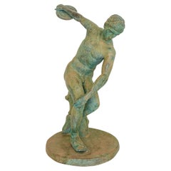 Large 19th Century French Bronze Statue of a Discus Thrower, around 1870